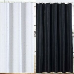 NEW-DIAMANTE-LUXURY-SHOWER-CURTAIN-WITH-HOOKS-MACHINE-WASHABLE-100-POLYESTER