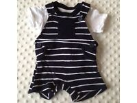 Baby Boy's Dungaree Set, x4 Summer Shorts (x2 brand new) 0-3 Months * Can Post *
