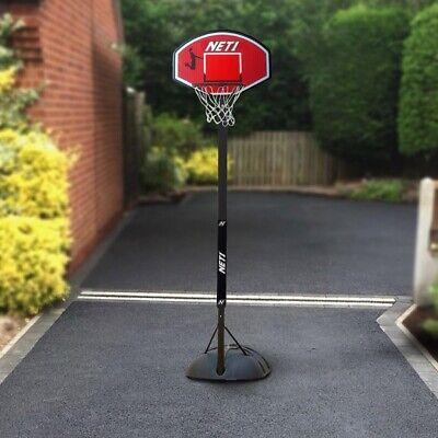 NET1 Xplode Kids Portable Basketball / Netball Net Hoop with Stand Freestanding