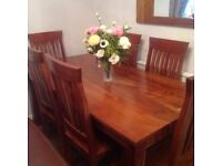 Table and 6 chairs & matching sideboard