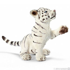 NEW-SCHLEICH-14385-White-Tiger-Cub-Playing-RETIRED