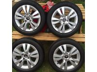 "Citroen alloys with tires 16"" 4 stud"