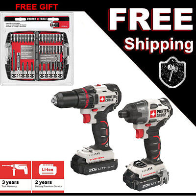 NEW Watchman CABLE 20 Volt  Drill Impact Brushless Cordless Combo Kit PCCK618L2