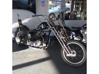 At Hurricane Custom Triumph T21 Hard Tail Chopper Springer Front End More Bikes in Stock