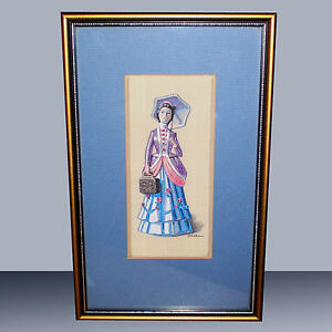 AVON MRS. ALBEE FRAMED SILK AND RAYON PICTURE