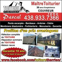 Rénovation construction TOITURES estimations COUVREURS