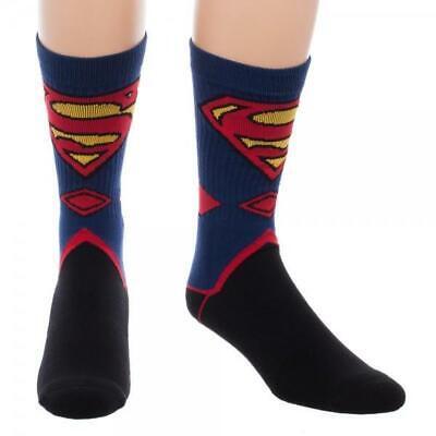 DC Comics Superman Costume Suit Up Crew Socks - Black Superman Suit Costume