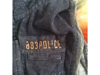 Police no sleeve jacket Size 5 mens