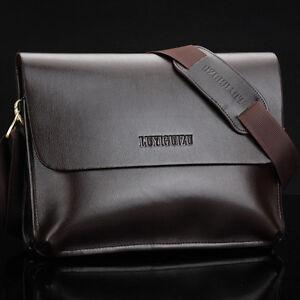 Men's Real Cow Leather Shoulder Messenger bag Cross Body Briefcase Bag Satchel
