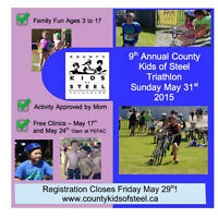 County Kids of Steel Registration ends May 29th at Noon