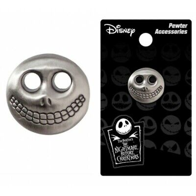 Nightmare Before Christmas Barel Mask Pewter Lapel Pin