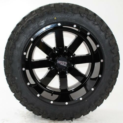 20x12 Moto Metal 962 Black Milled Atturo Trail Blade Mt 35x12.50r20 Wheels Tires