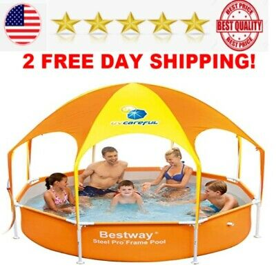 H2OGO Splash in Shade Play Pool Orange steel frame best for
