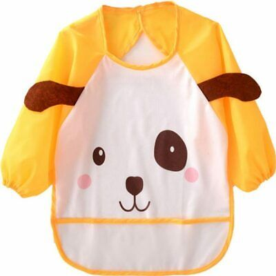 Playpen Baby® Yellow Dog Printed Sleeved Bib with Pocket