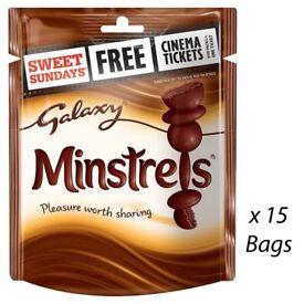 Galaxy Chocolate Minstrels Pouch 118g packs