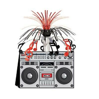 1980's/ 80's Decade Theme Party Supplies BOOM BOX CASCADE CENTERPIECE DECORATION](1980s Theme)