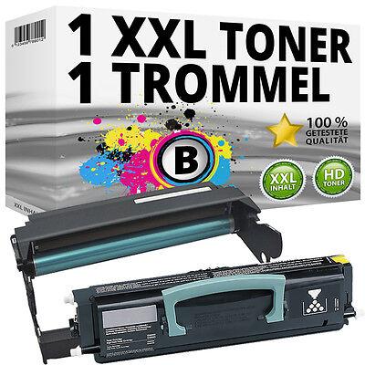 E260x22g Fotoleiter (XL SET TONER+TROMMEL für LEXMARK X264DN X363DN X364DN X364DW X264H11G E260X22G)