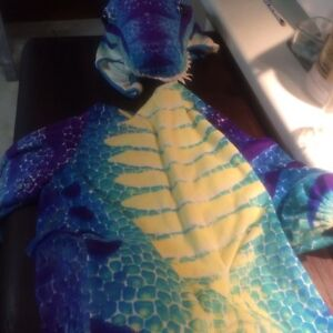 Purple & blue dinosaur costume