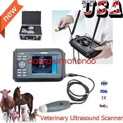 Portable V7 Handheld Veterinary Ultrasound Scanner For Animals With 3.5mhzprobe