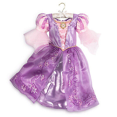 NWT Disney Store Rapunzel Costume Gown Dress Princess Tangled 7/8,9/10,11/12