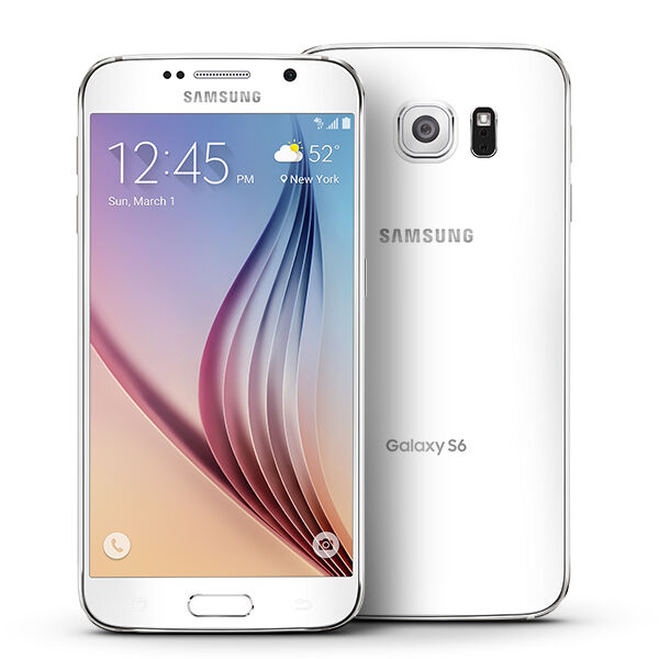 $227.99 - New Samsung Galaxy S6 SM-G920A AT&T Unlocked 32GB Android Smartphone White Pearl