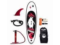 BRAND NEW WildSUP! Inflatable Sup board Sliding Penguin 9′ for SALE! Stand up paddle board!