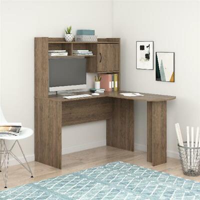 L Shaped Computer Desk With Hutch 2 Cubbies Concealed Storage Corner Office Desk Corner Computer Desk With Hutch