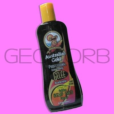 AUSTRALIAN GOLD GELEE DARK TAN ACCELERATOR TANNING BED LOTION ~FAST SHIPPING