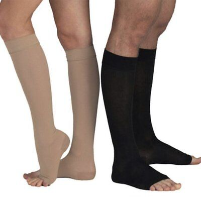 Knee Open Toe Support Stockings - US Women Men Compression Socks Open Toe Knee High Leg Support Sport Stockings