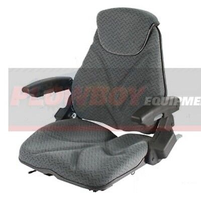 Gray Cloth Seat For Tractor Lawn Mower Skidsteer Loader Forklift Backhoe Dozer
