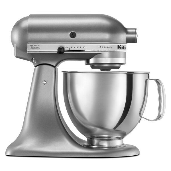 KitchenAid Stand Mixer tilt 5-QT RRK150 Artisan Tilt Choose The Beautiful Colors Contour Silver  CU