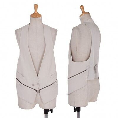 NEIL BARRETT Zip Design vest Size 38(K-31798)
