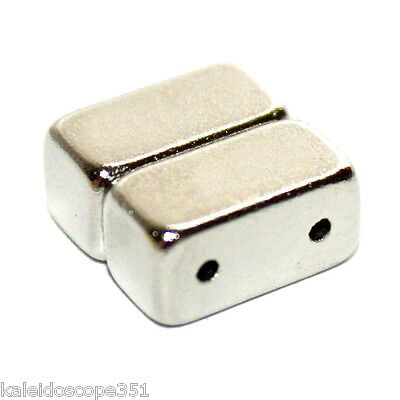 MAGNETIC JEWELRY CLASP DOUBLE STRAND 5 CLASPS SILVER COLOR 12X6X6MM MC12N 6 Mm Magnetic Clasp