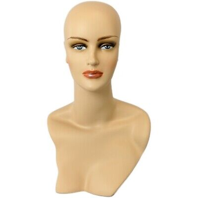 Mn-320 Female Display Mannequin Head Form With Stylish Neck And Shoulder