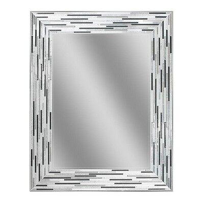 Bathroom Vanity Mirror Wall Mosaic Tile Gray White Frame Home Deco Contemporary ()