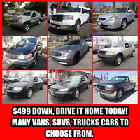 No Credit Check Car Loan With Only $499 Down