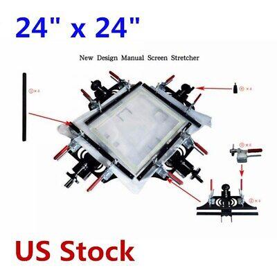 24 X 24 Silk Screen Printing Stretcher Fabric Mesh Hand Stretching Tools - Us
