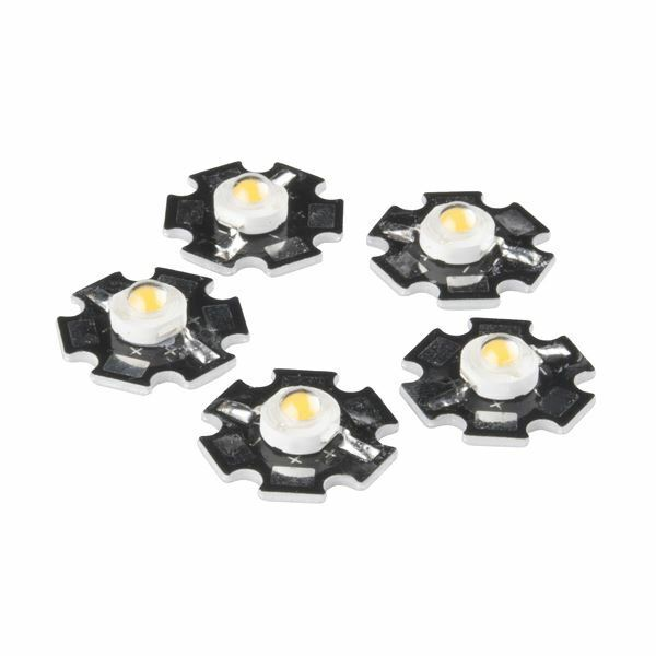 LED+-+3W+Aluminum+PCB+%285+Pack%2C+Warm+White%29