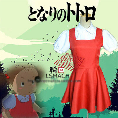 My Neighbor Totoro Mei Kusakabe Cosplay Costume Red White Uniform (Mei Kusakabe Kostüm)