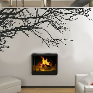 Diy home decor stunning tree branch removable wall art for Diy tree wall mural
