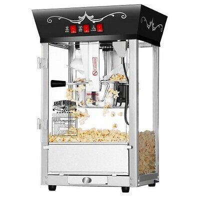 الة صنع الفشار جديد Great Northern Popcorn Black Antique Style Popcorn Popper Machine 8 Ounce