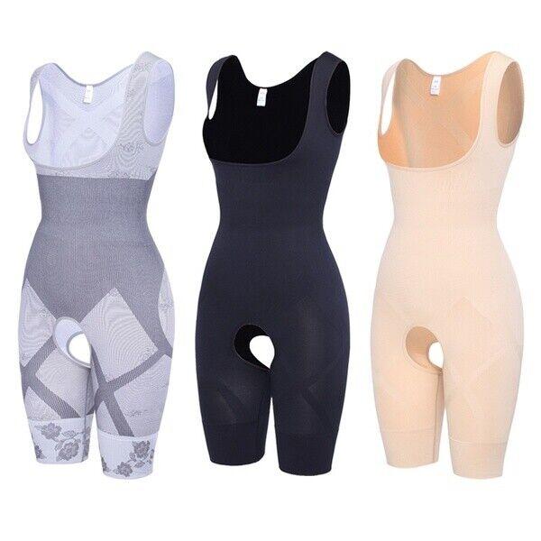 Women High Waist Full Body Control Shaper Slimming Tummy Bodysuits Jumpsuits MFS
