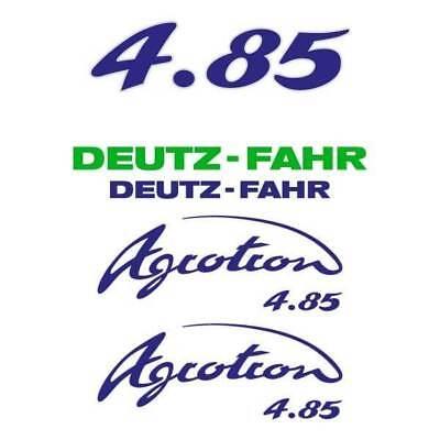 Deutz-fahr Agrotron 4.85 S Tt Tractor Decal Aufkleber Sticker Set