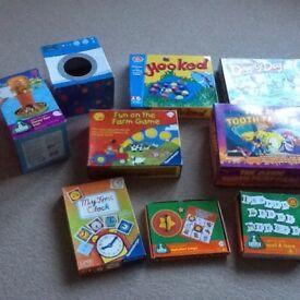 Children's games from 3+, £2 each, VGC