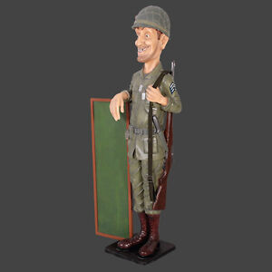 SKINNY SOLDIER MILITARY LIFESIZE COMMICAL MILITARY ADVERT BOARD SCULPTURE FIGURE