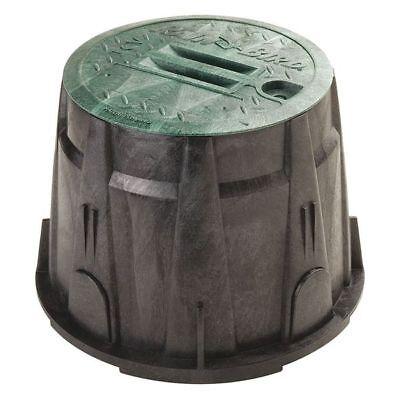 "Valve Box,10"" Round w/Green Lid RAIN BIRD VBRND10"