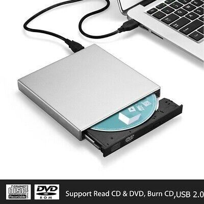 Lecteur de CD / RW externe USB Lecteur de DVD / CD avec deux câbles USB pour Win