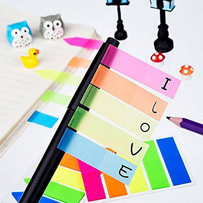 Set Of 2 Fluorescent Neon Sticky Page Markers Index Tabs Sticky Note Pads 320pcs