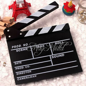 Director Video Scene Clapperboard TV Movie Clapper Board Film Slate Cut Prop H