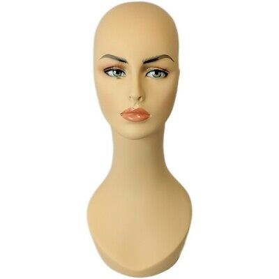 Mn-318 Female Mannequin Head Display Form W Stylish Long Neck And Pierced Ears